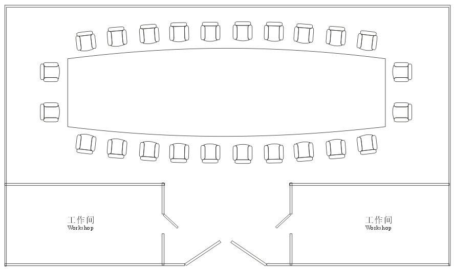 雅瑞厅平面图