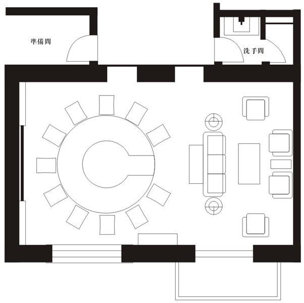 霁月室平面图