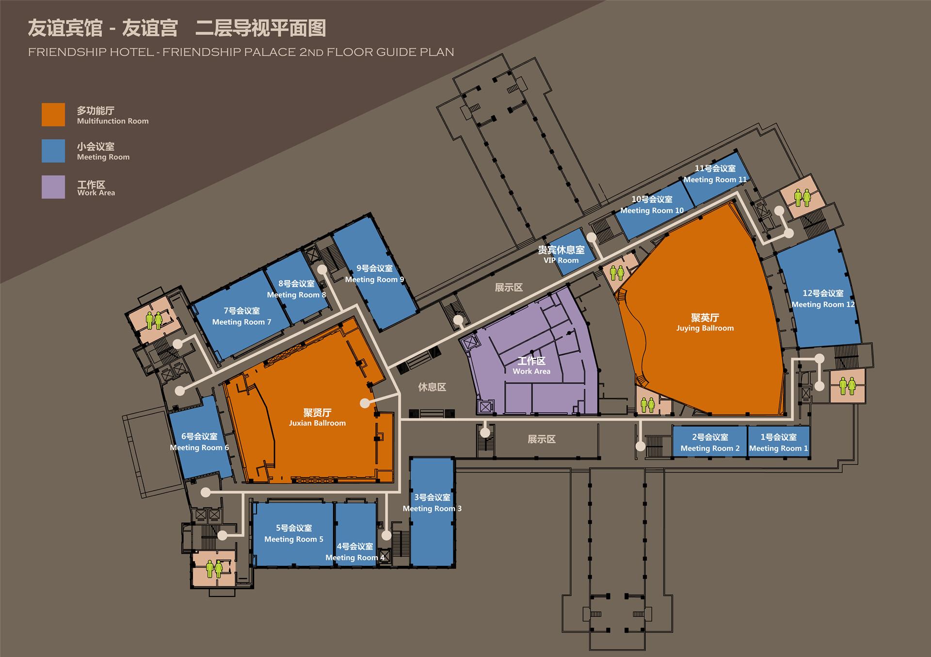 友谊宫二层平面图